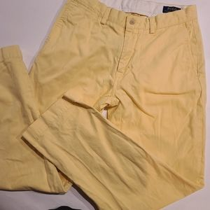 Polo by Ralph Lauren yellow classic fit Chino pant